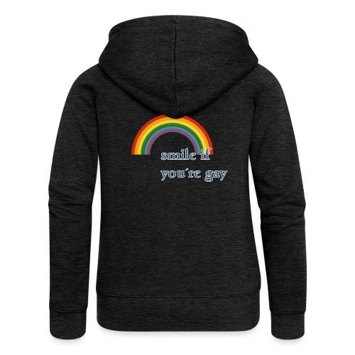 Lächle wenn du schwul bist | Vintage | LGBT |Pride - Frauen Premium Kapuzenjacke