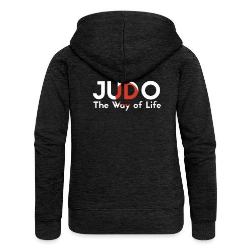 judo the way of life - Rozpinana bluza damska z kapturem Premium