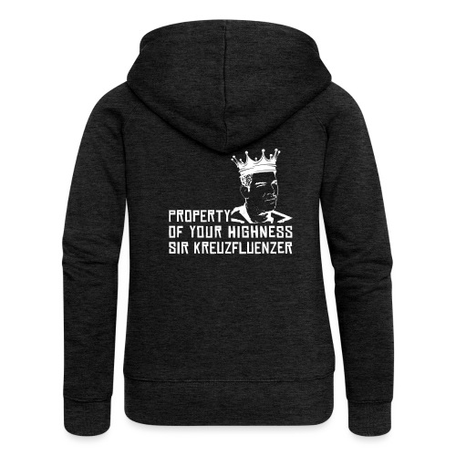 Property of your Highness WHITE - Frauen Premium Kapuzenjacke