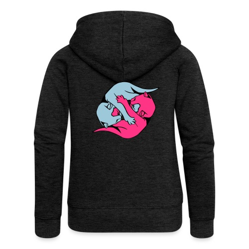 Yin and Yang Kitties - Women's Premium Hooded Jacket