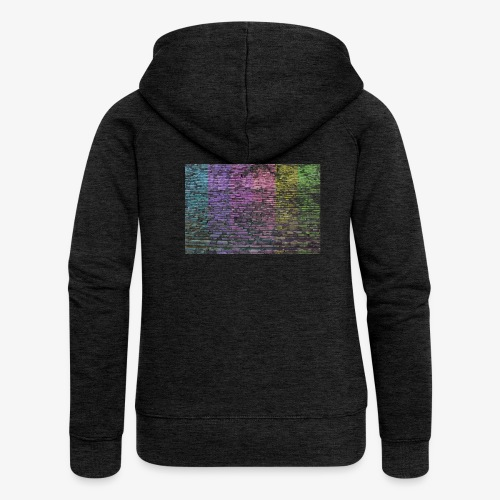 Regenbogenwand - Frauen Premium Kapuzenjacke