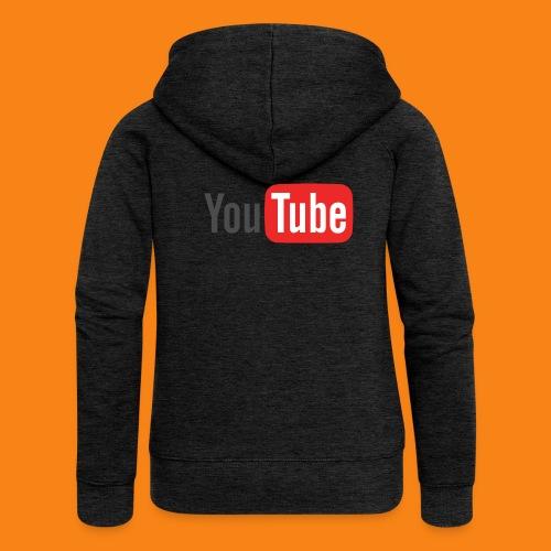 Youtube-logo-2014 - Chaqueta con capucha premium mujer