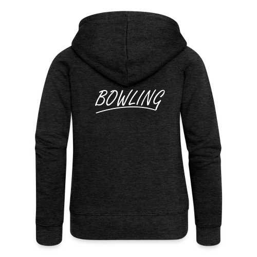 Bowling souligné - Veste à capuche Premium Femme