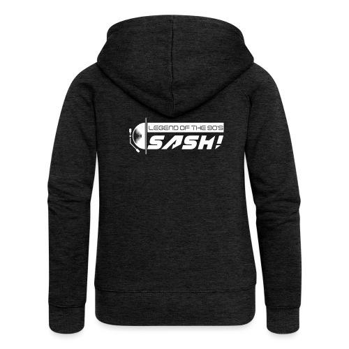 DJ SASH! Turntable Logo - Women's Premium Hooded Jacket