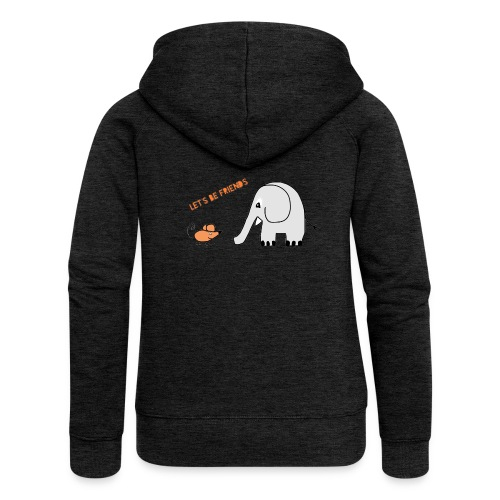Elephant and mouse, friends - Women's Premium Hooded Jacket