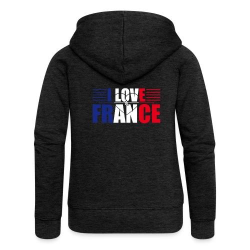 love france - Veste à capuche Premium Femme
