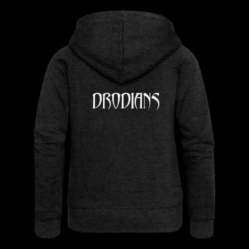 DRODIANS WHITE - Women's Premium Hooded Jacket