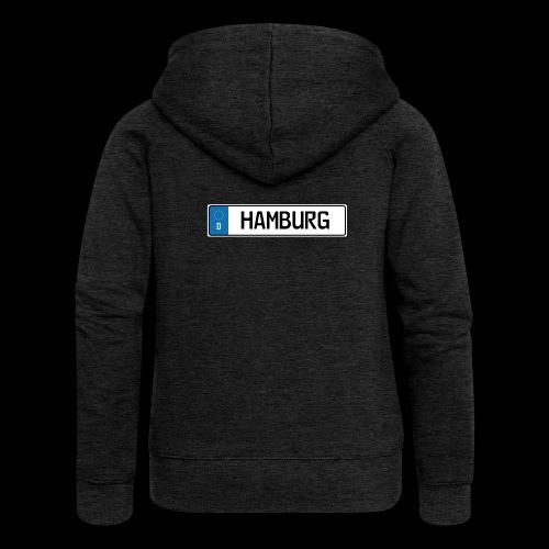 Kennzeichen Hamburg - Frauen Premium Kapuzenjacke