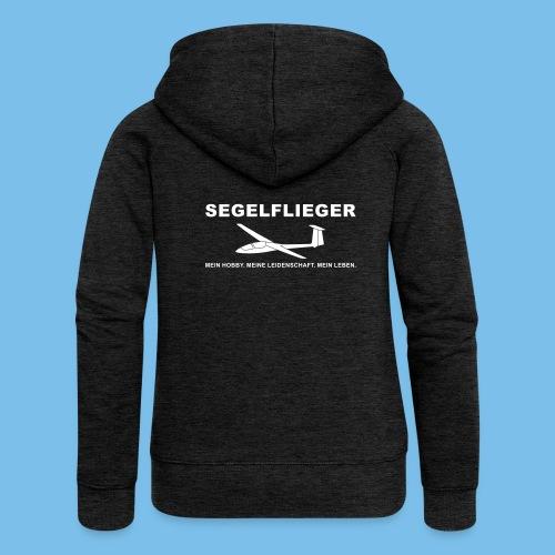 Segelflieger Segelflugzeug Hobby Geschenk Tshirt - Frauen Premium Kapuzenjacke