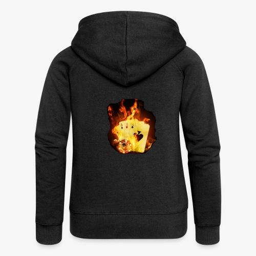 Flamme THE TEXAS HOLDEM - Frauen Premium Kapuzenjacke