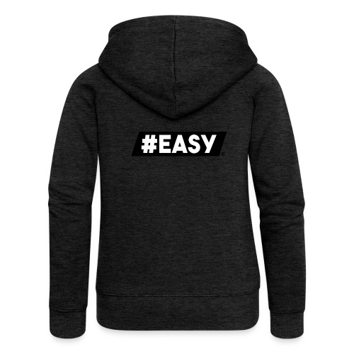 #EASY Classic Logo T-Shirt - Felpa con zip premium da donna