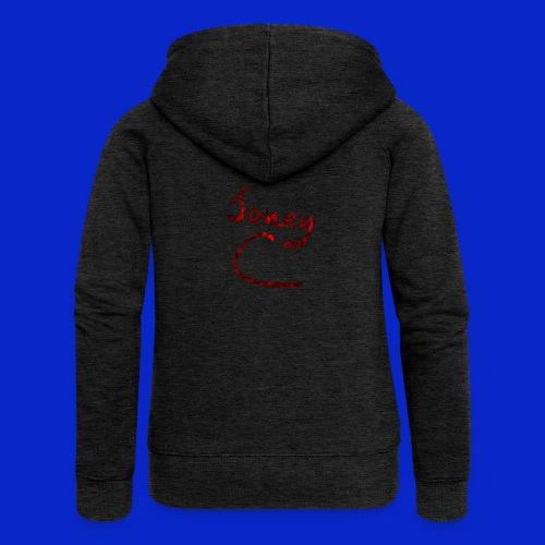 Jonny C Red Handwriting - Women's Premium Hooded Jacket