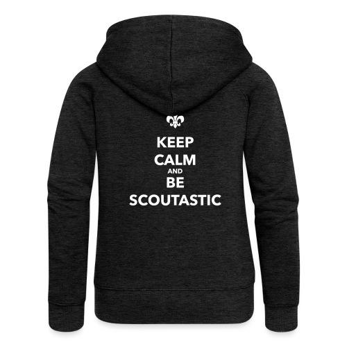 Keep calm and be scoutastic - Farbe frei wählbar - Frauen Premium Kapuzenjacke