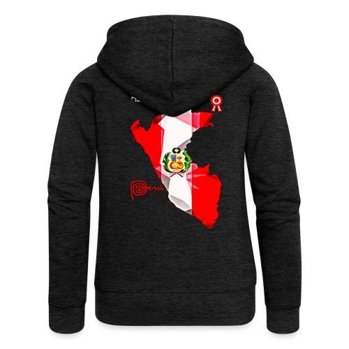 Mapa del Peru, Bandera y Escarapela - Veste à capuche Premium Femme