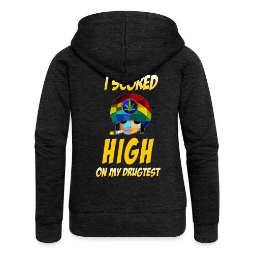 Highscore on the drugtest, cannabis, marijuana - Women's Premium Hooded Jacket