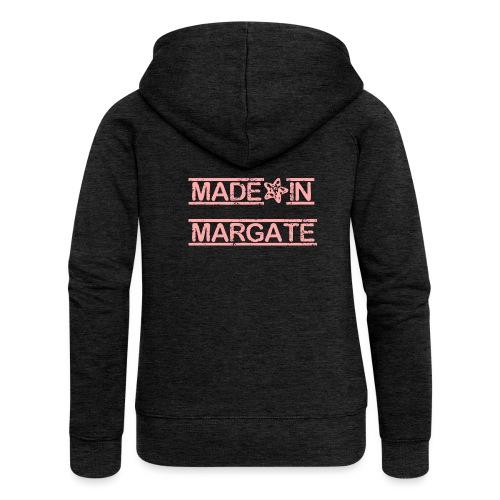 Made in Margate - Pink - Women's Premium Hooded Jacket