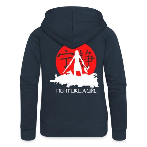 Fight like a girl shirt - Women's Premium Hooded Jacket