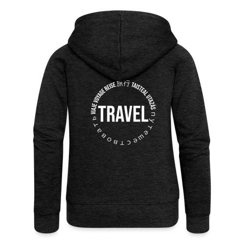 Reisen Weltreise Travelshirt Sprachen - Frauen Premium Kapuzenjacke