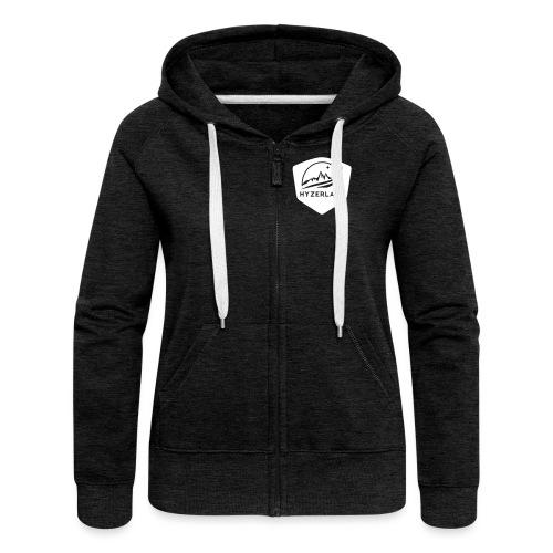 Hyzerlane3 badge plain - Women's Premium Hooded Jacket