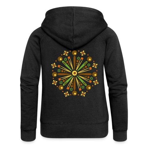 Mandala Herfst - Vrouwenjack met capuchon Premium