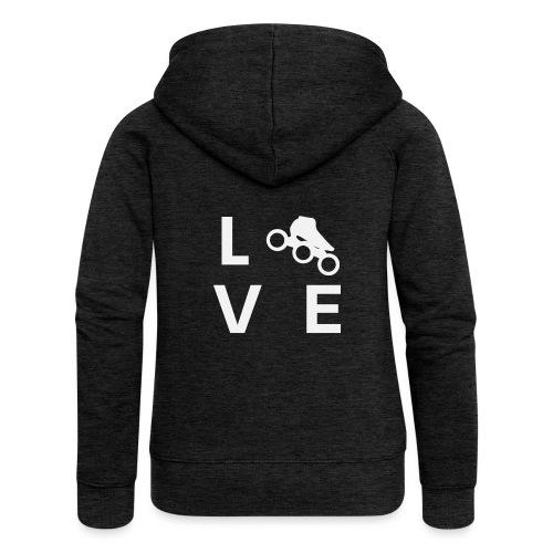 Speedskating Liebe - Frauen Premium Kapuzenjacke