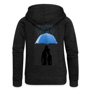 Love under the umbrella - Vrouwenjack met capuchon Premium