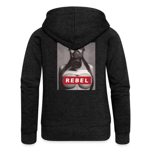 postapocalyptic rebel - Frauen Premium Kapuzenjacke