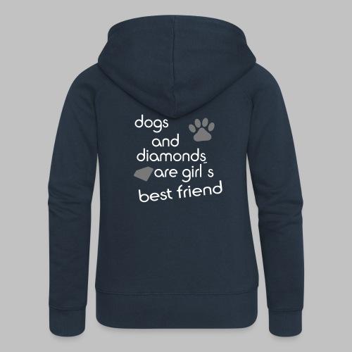 dogs and diamonds are girls best friend - Frauen Premium Kapuzenjacke