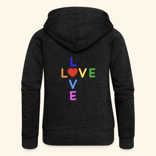 Rainbow Love. Regenbogen Liebe - Frauen Premium Kapuzenjacke