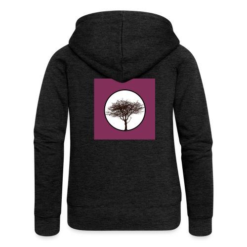 Baum in Kreis - Frauen Premium Kapuzenjacke