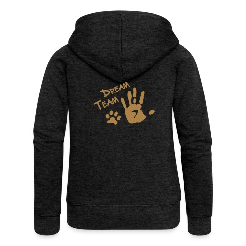 Vorschau: Dream Team Hand Hundpfote - Frauen Premium Kapuzenjacke