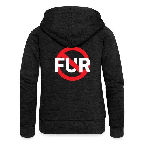 Fuck fur! White - Premium luvjacka dam
