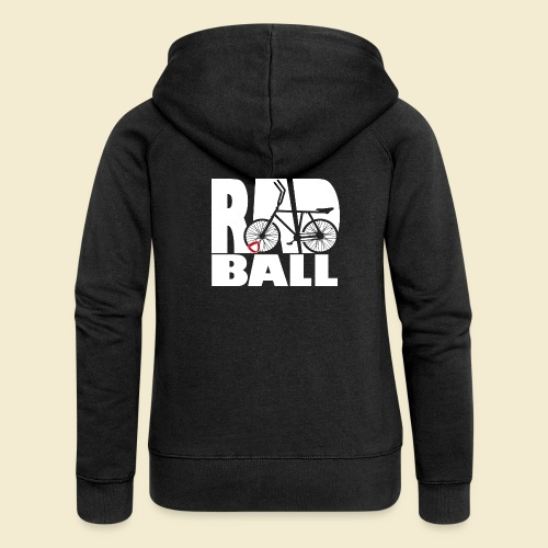 Radball | Typo - Frauen Premium Kapuzenjacke