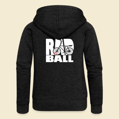 Radball   Typo - Frauen Premium Kapuzenjacke