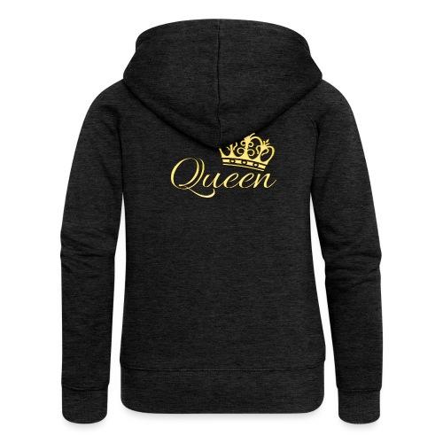 Queen Or -by- T-shirt chic et choc - Veste à capuche Premium Femme