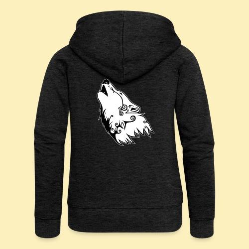 Le Loup de Neved (version contour blanc) - Veste à capuche Premium Femme