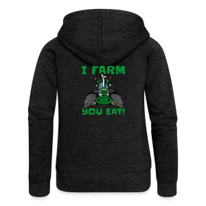 I farm you eat jd - Vrouwenjack met capuchon Premium