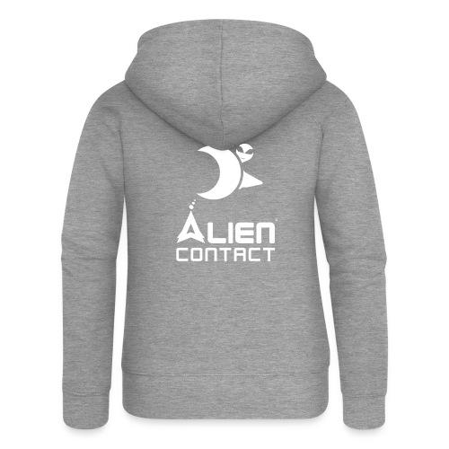Alien Contact - Felpa con zip premium da donna