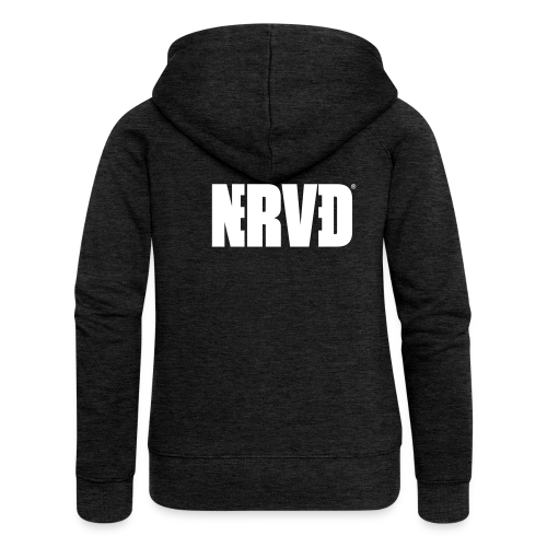 Official Nerved@ White Logotype - Women's Premium Hooded Jacket