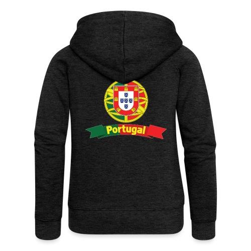 Portugal Campeão Europeu Camisolas de Futebol - Women's Premium Hooded Jacket