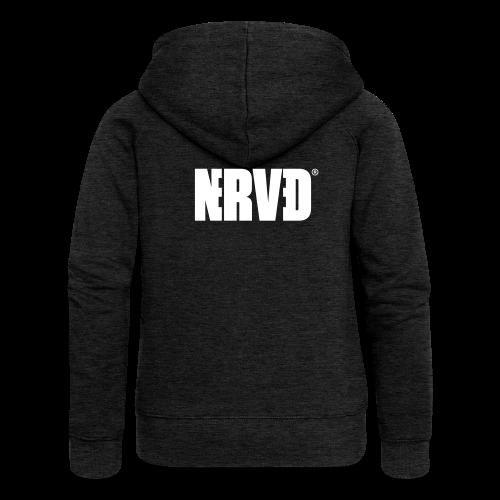 Official Nerved® Logo Black - Women's Premium Hooded Jacket