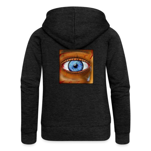 Hyperspace Potato Eye - Women's Premium Hooded Jacket