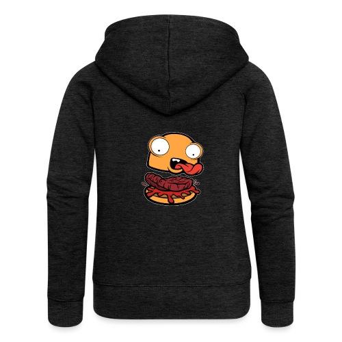 Crazy Burger - Chaqueta con capucha premium mujer