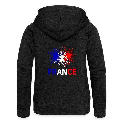 France - red white blue - Women's Premium Hooded Jacket