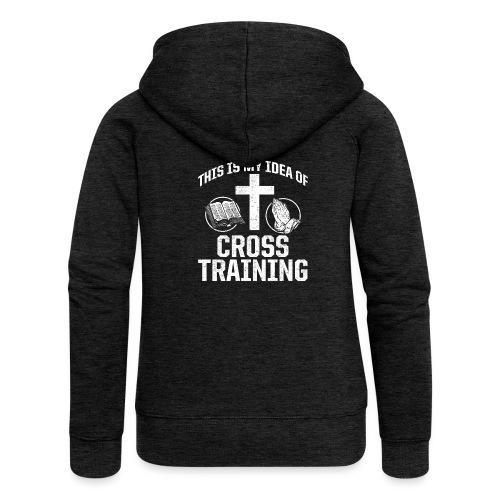 Sport mit Jesus und Bibel lesen Christen Spruch - Frauen Premium Kapuzenjacke
