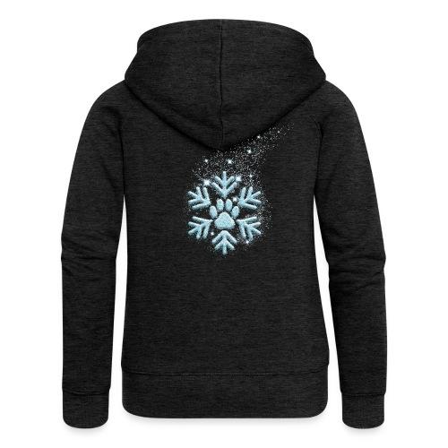 Vorschau: dog paw snowflake - Frauen Premium Kapuzenjacke