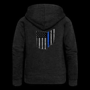 Ohio Highway Patrol - Rozpinana bluza damska z kapturem Premium