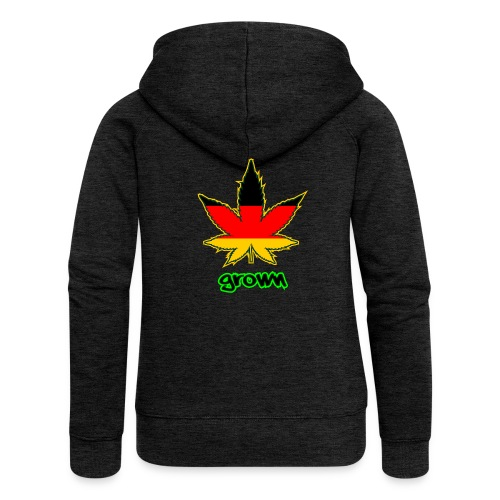 Deutsche Flagge in Cannabisblattform - Women's Premium Hooded Jacket