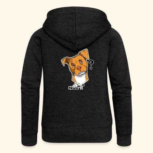 Nice Dogs pitbull 2 - Felpa con zip premium da donna