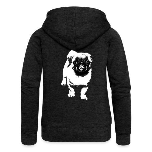 Mops Hund Hunde Möpse Geschenk - Frauen Premium Kapuzenjacke
